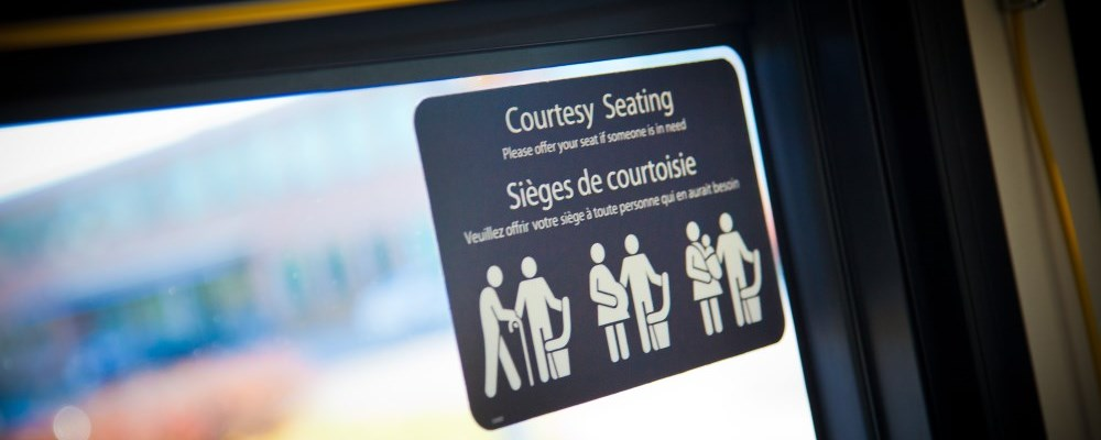 Courtesy seating decal